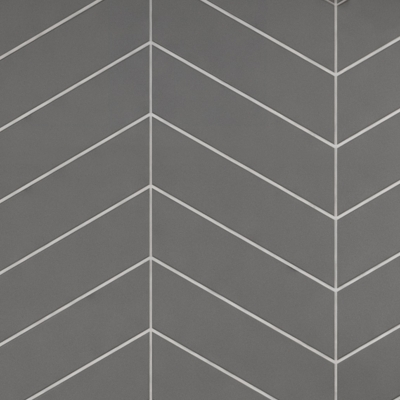 Chevron Dark Grey Metro Tiles